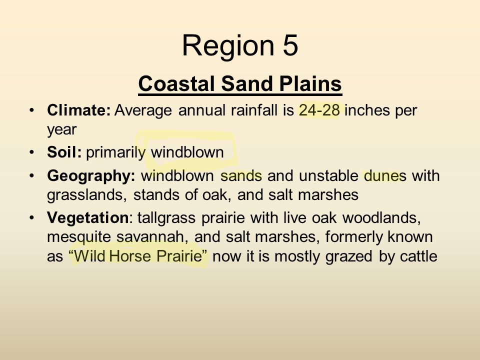 Region 5 Coastal Sand Plains