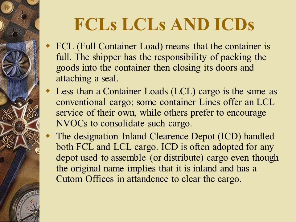 FCLs LCLs AND ICDs