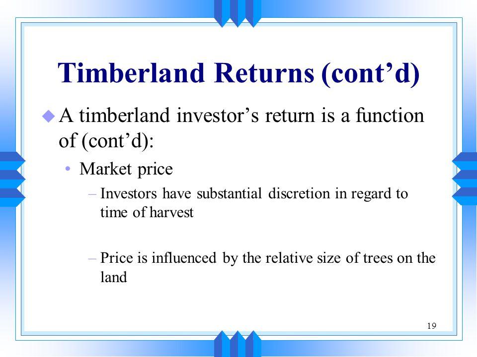 Timberland Returns (cont'd)