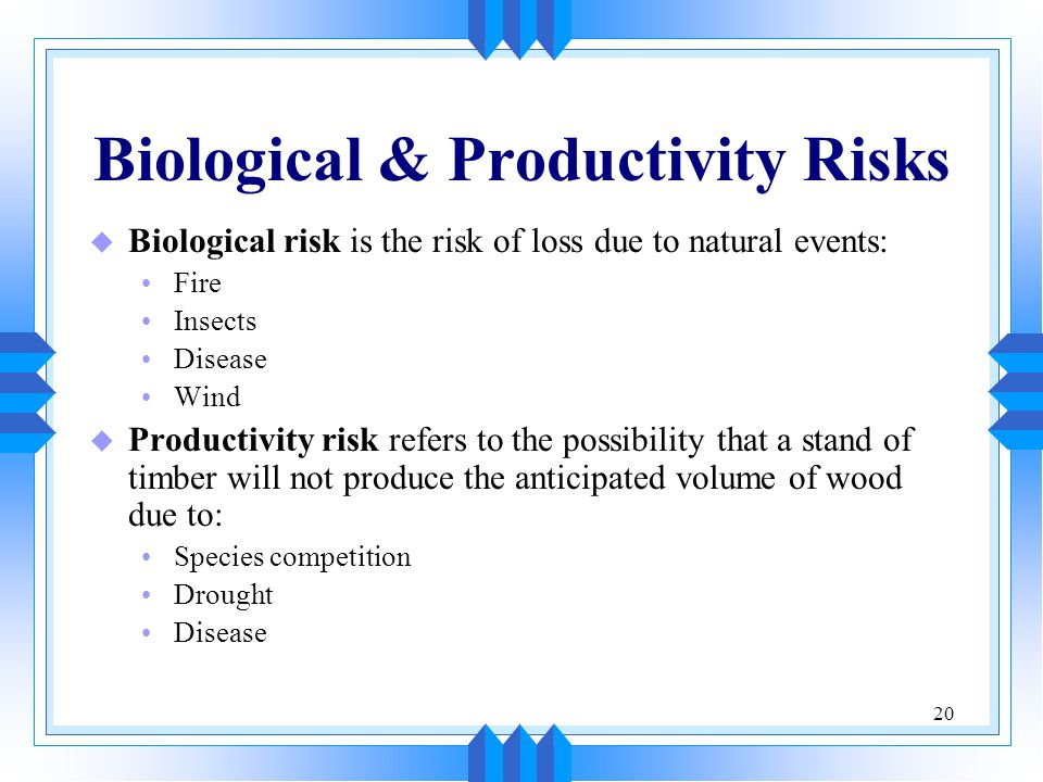 Biological & Productivity Risks