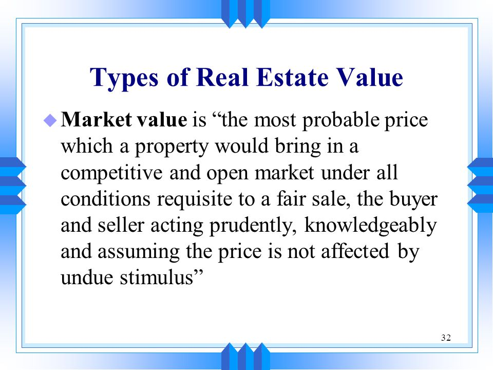 Types of Real Estate Value