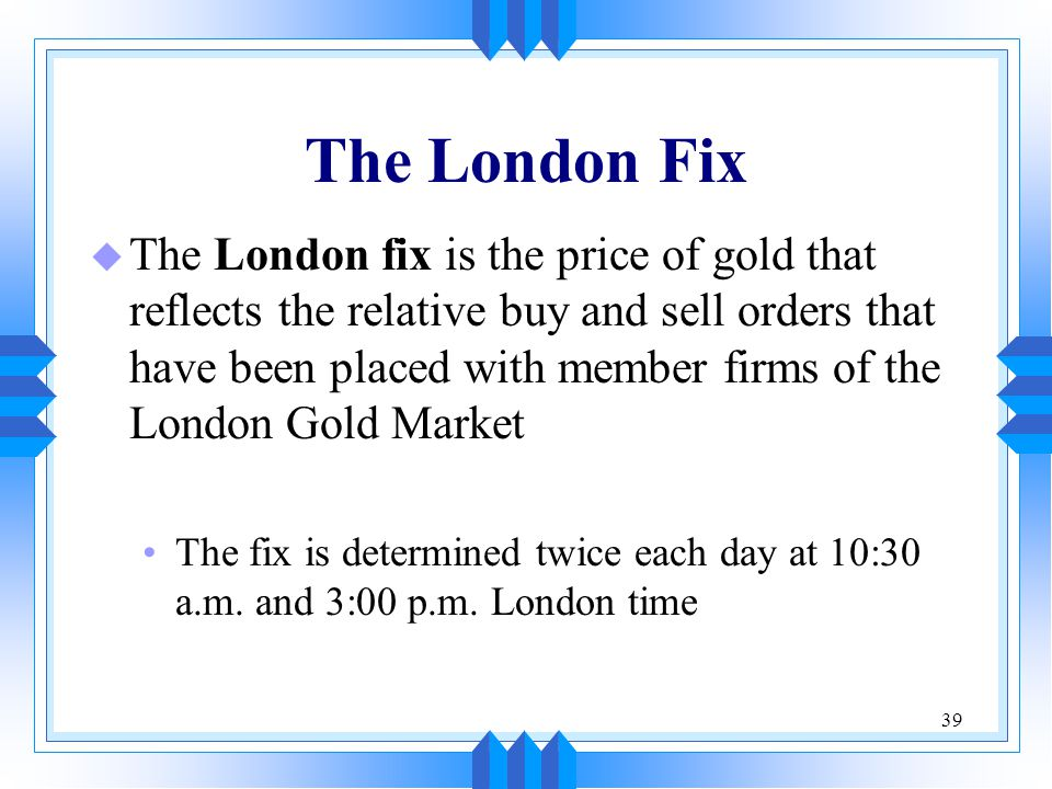 The London Fix