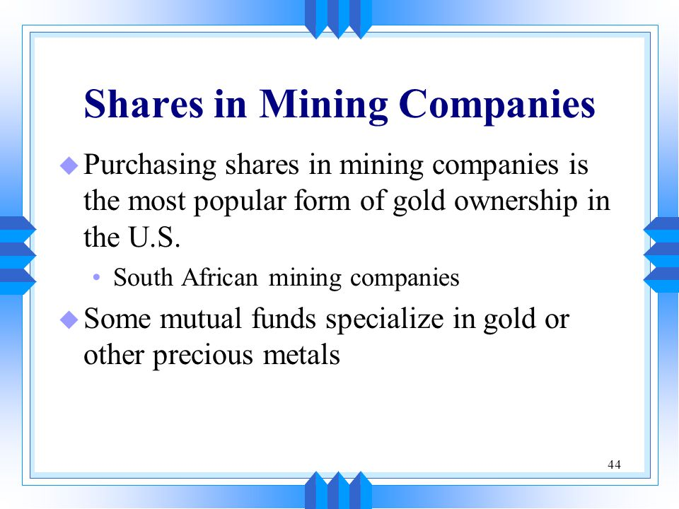 Shares in Mining Companies