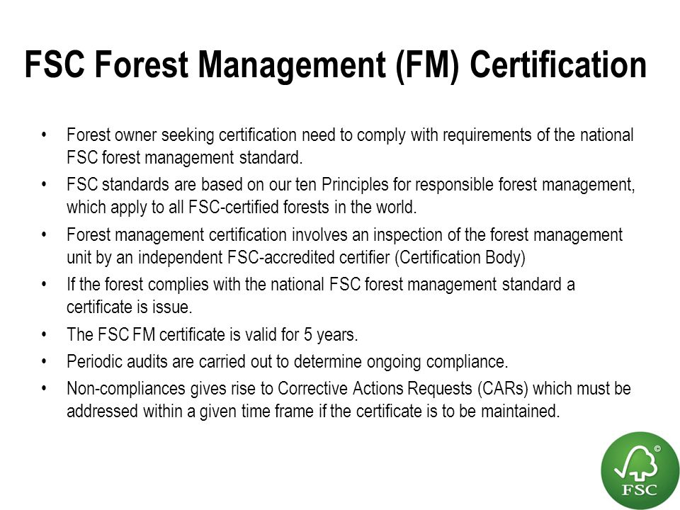 fsc certification what does it mean for forest owners ppt video online download. Black Bedroom Furniture Sets. Home Design Ideas