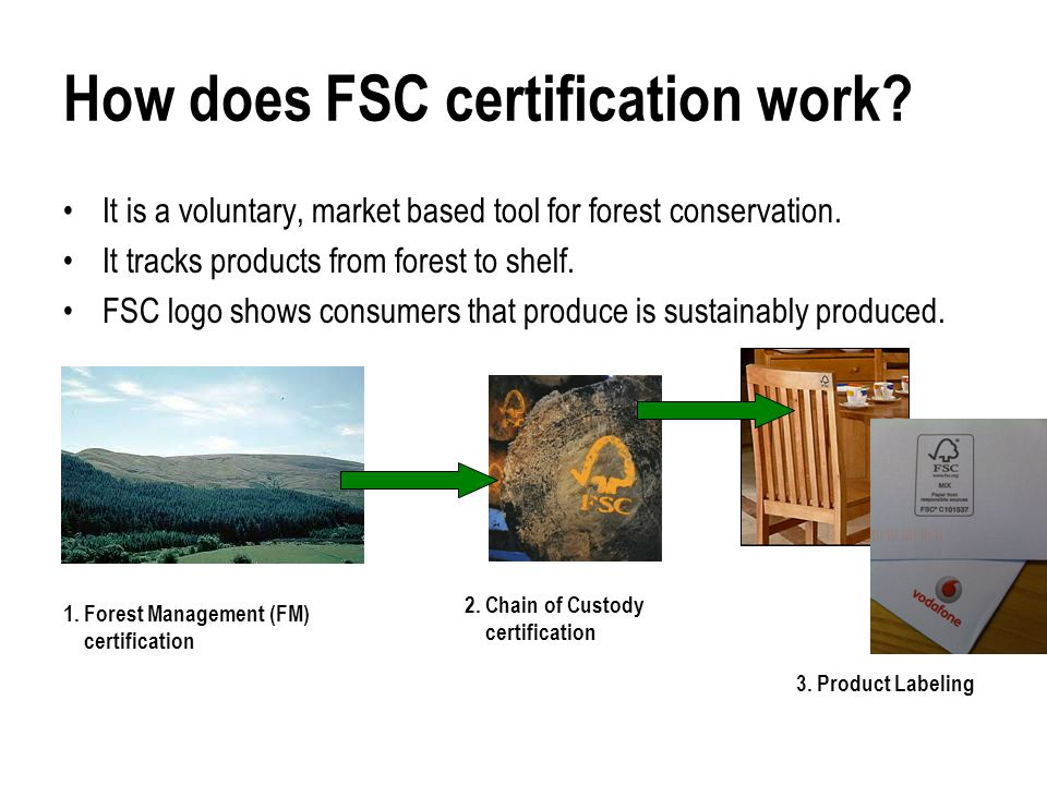 How does FSC certification work