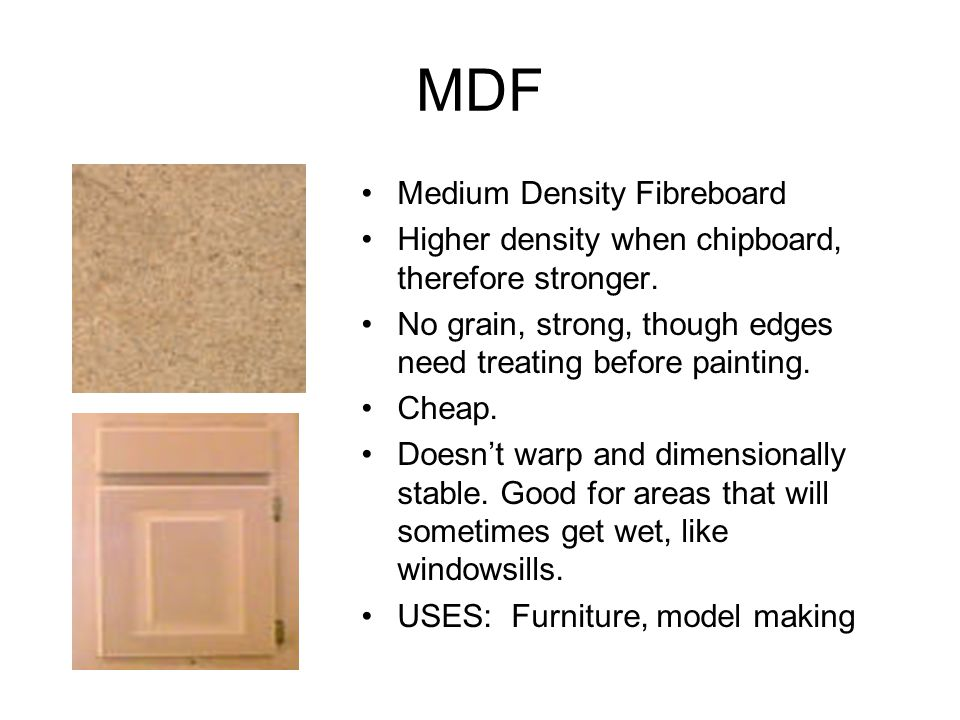 MDF Medium Density Fibreboard
