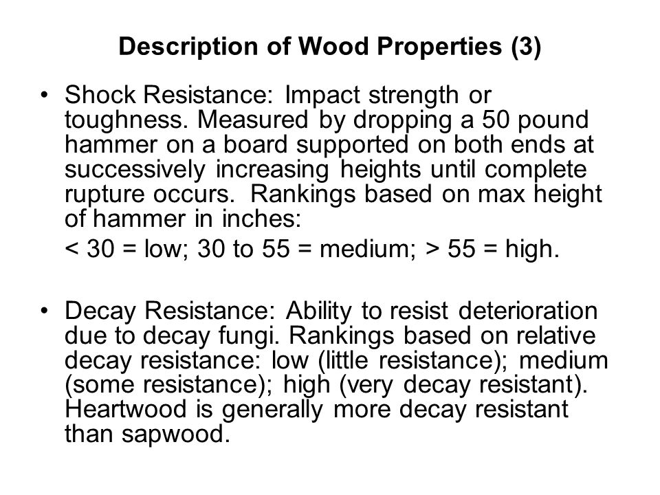 Description of Wood Properties (3)