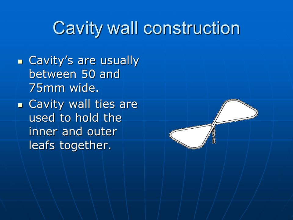Cavity wall construction