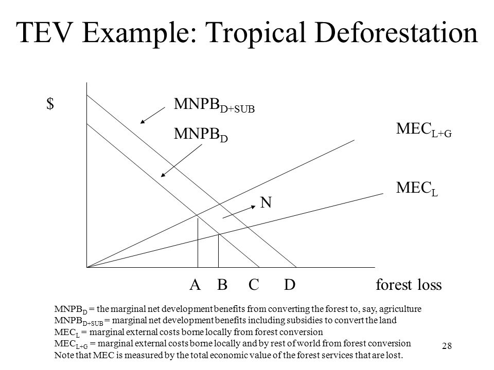 TEV Example: Tropical Deforestation