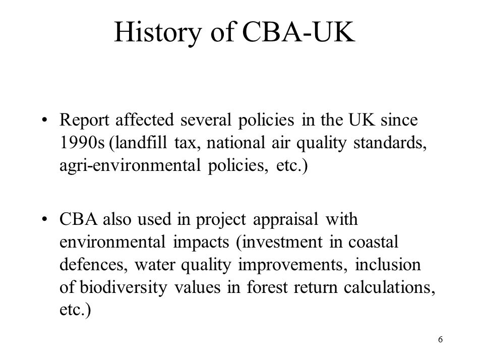 History of CBA-UK