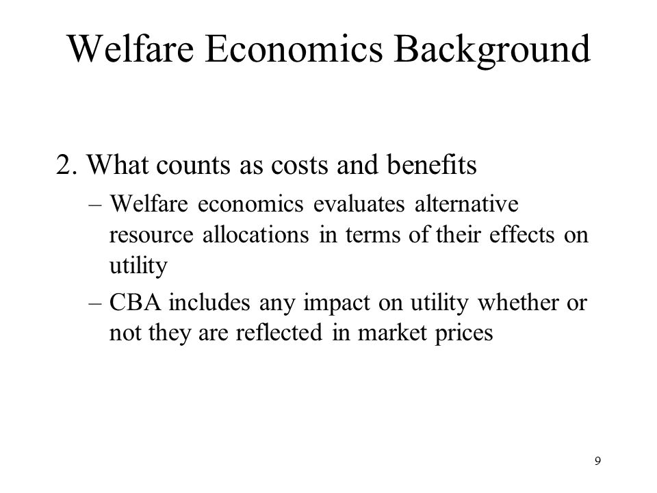 Welfare Economics Background