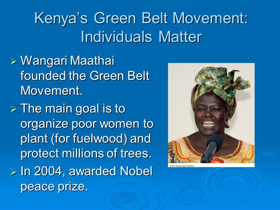 Kenya's Green Belt Movement: Individuals Matter