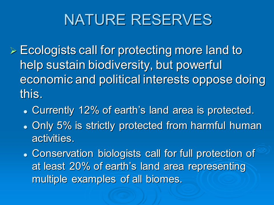 NATURE RESERVES