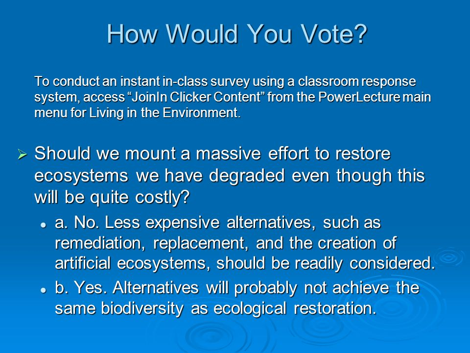 How Would You Vote