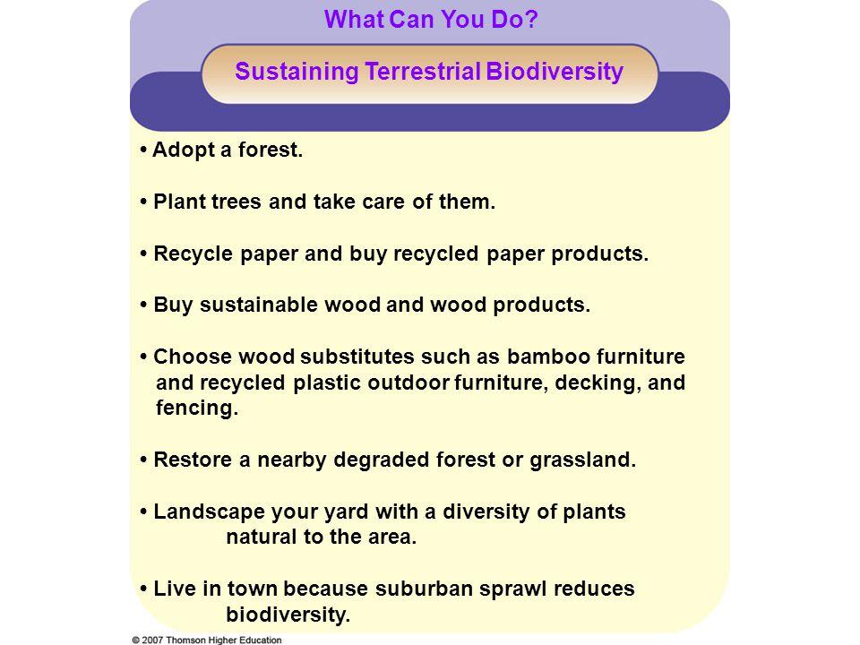 Sustaining Terrestrial Biodiversity