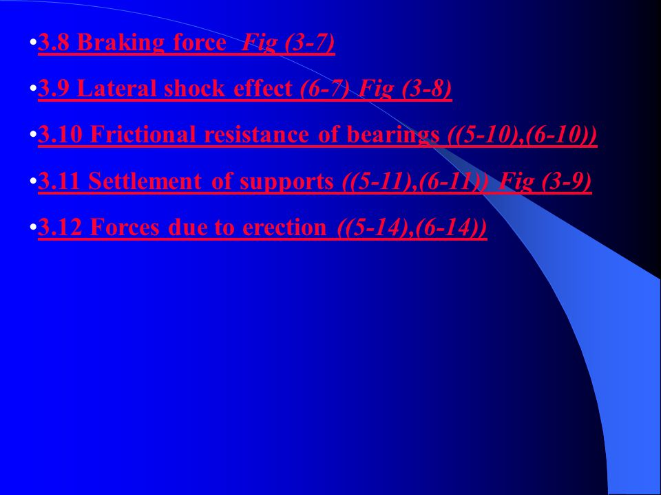 3.8 Braking force Fig (3-7) 3.9 Lateral shock effect (6-7) Fig (3-8) 3.10 Frictional resistance of bearings ((5-10),(6-10))