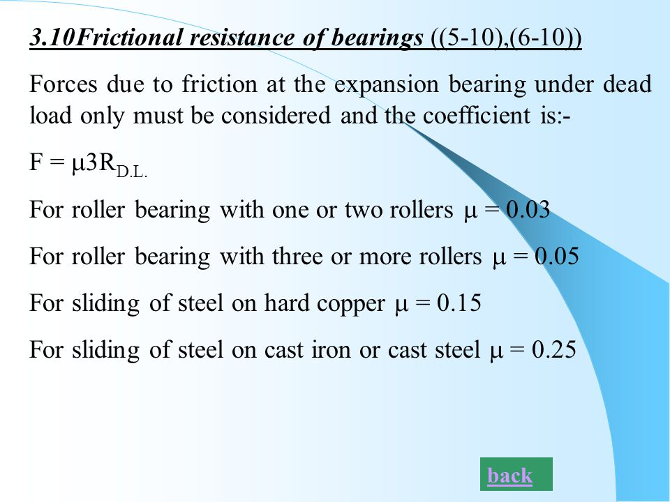 3.10Frictional resistance of bearings ((5-10),(6-10))