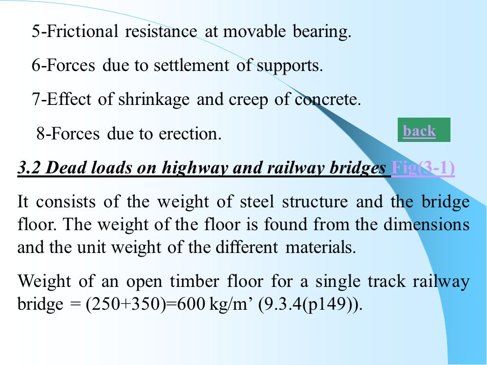 5-Frictional resistance at movable bearing.