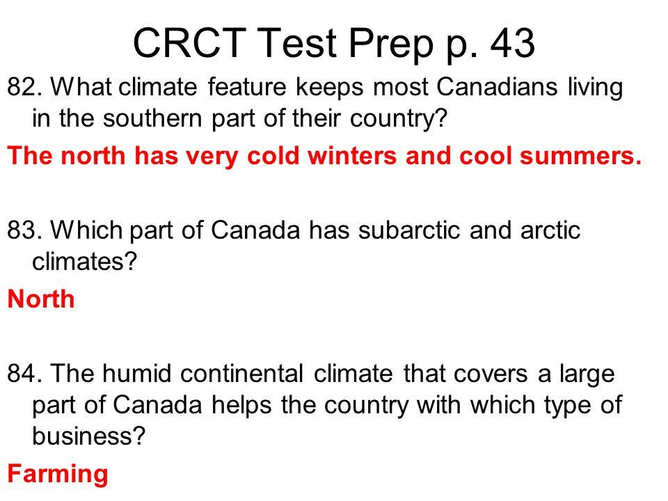 CRCT Test Prep p. 43