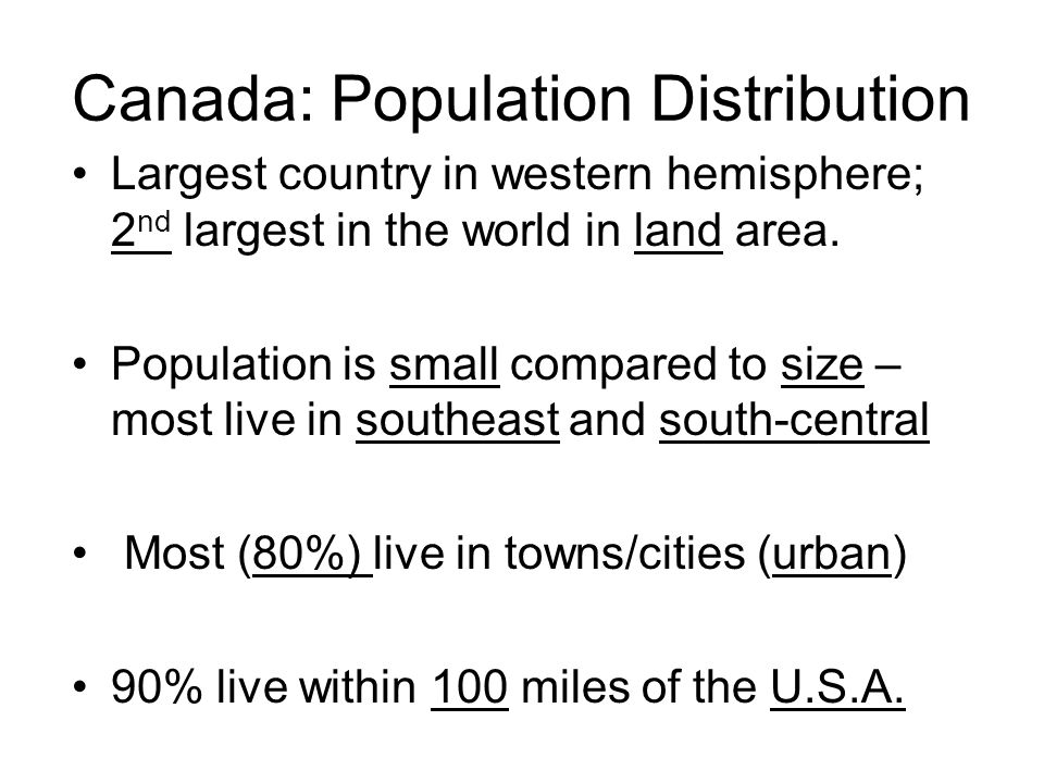 Canada: Population Distribution