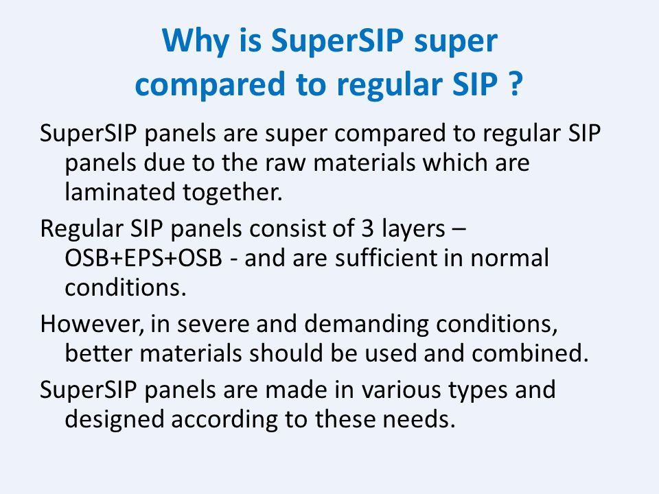 Why is SuperSIP super compared to regular SIP