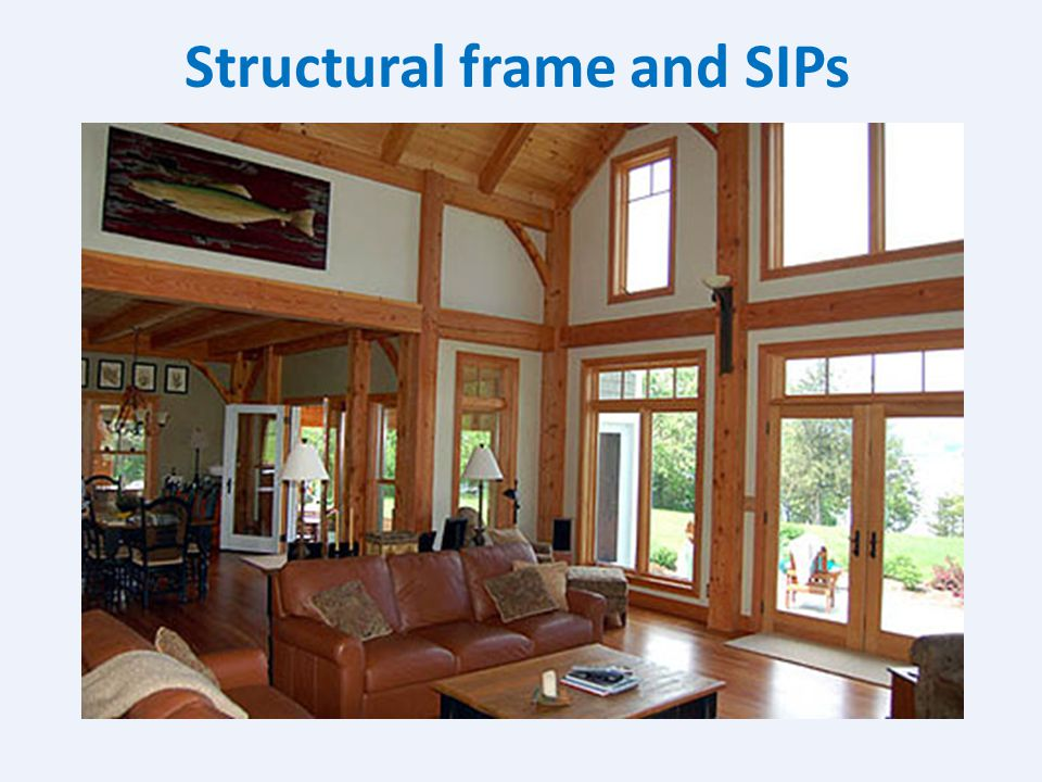 Structural frame and SIPs