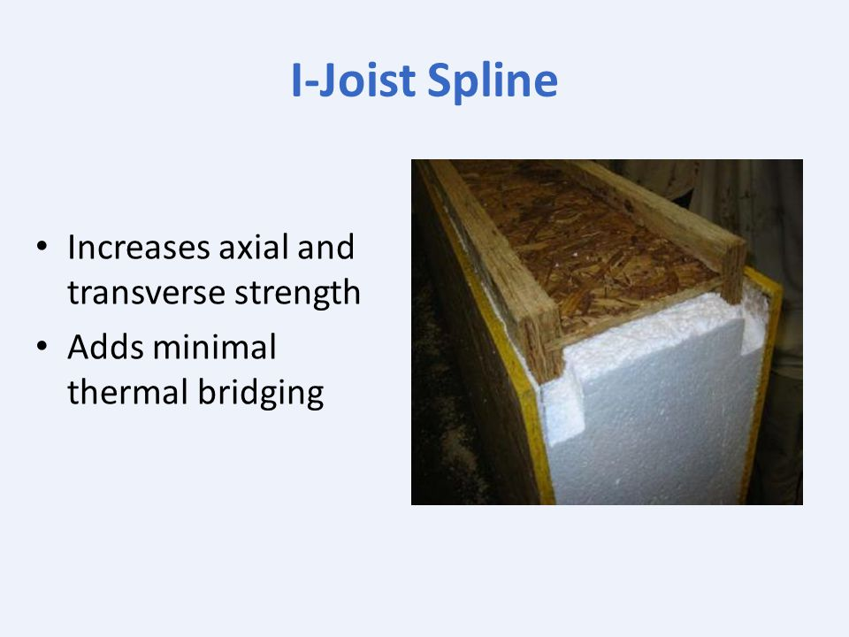 I‐Joist Spline Increases axial and transverse strength