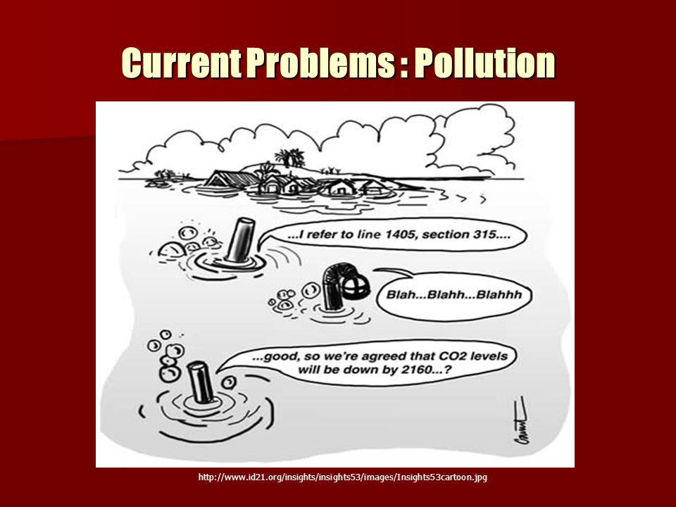 Current Problems : Pollution