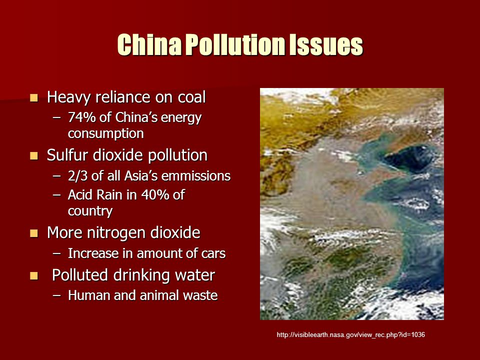 China Pollution Issues