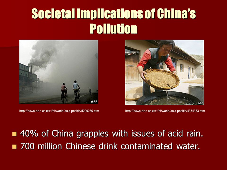 Societal Implications of China's Pollution
