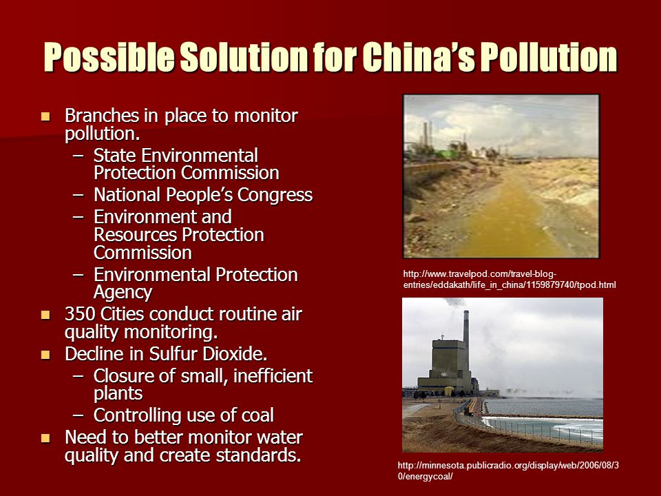 Possible Solution for China's Pollution