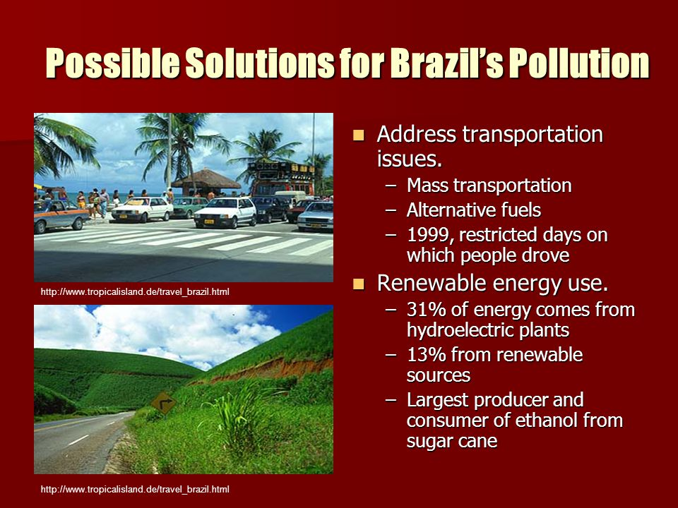 Possible Solutions for Brazil's Pollution