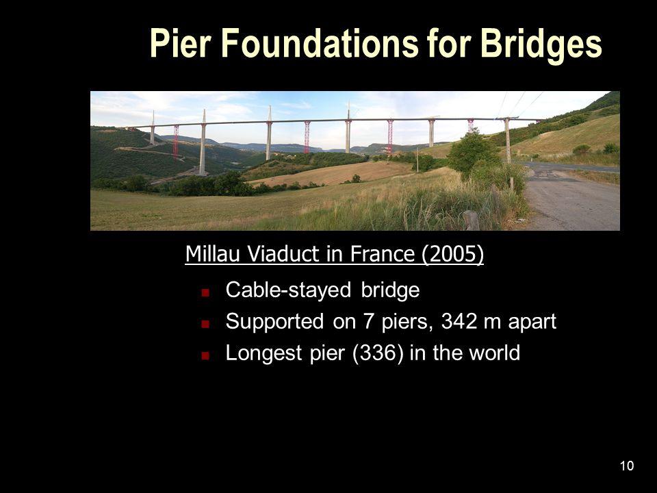Pier Foundations for Bridges