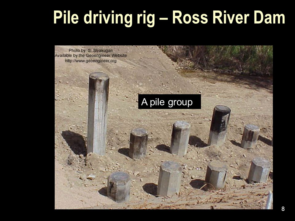 Pile driving rig – Ross River Dam