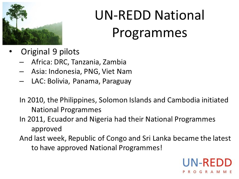UN-REDD National Programmes