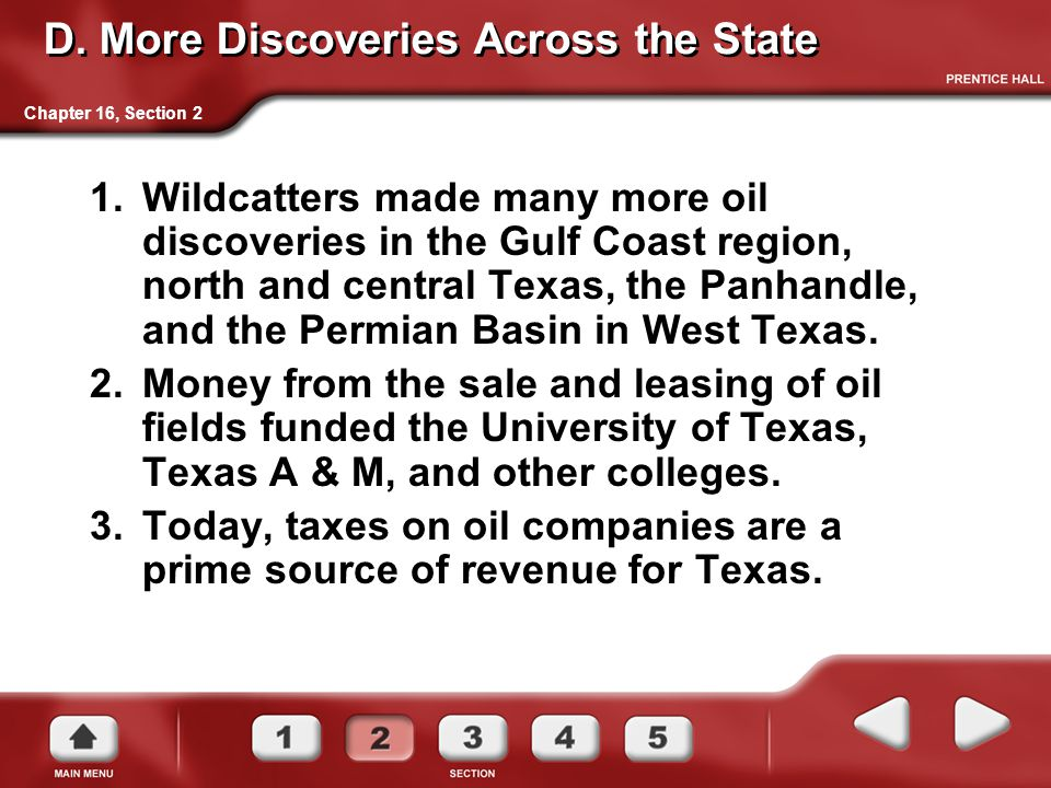 D. More Discoveries Across the State