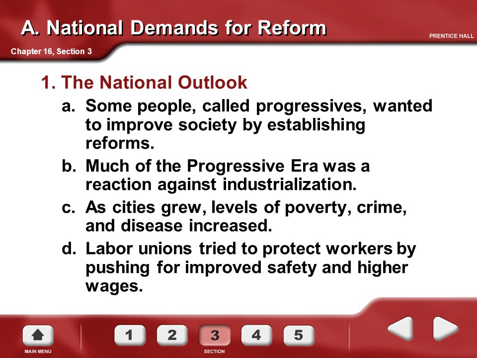 A. National Demands for Reform