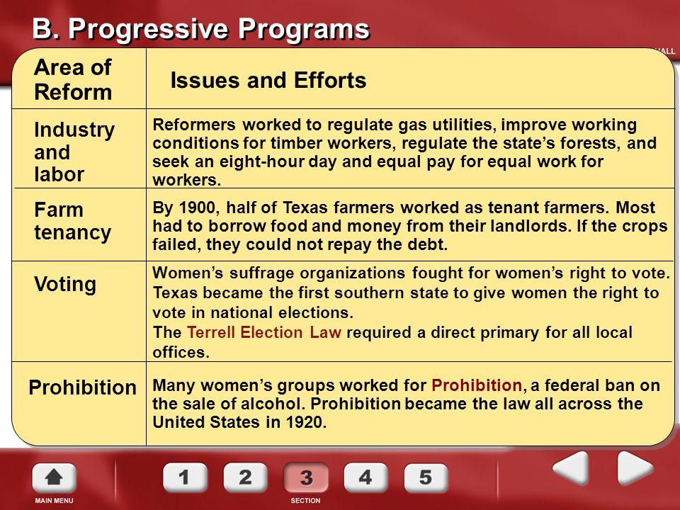 B. Progressive Programs