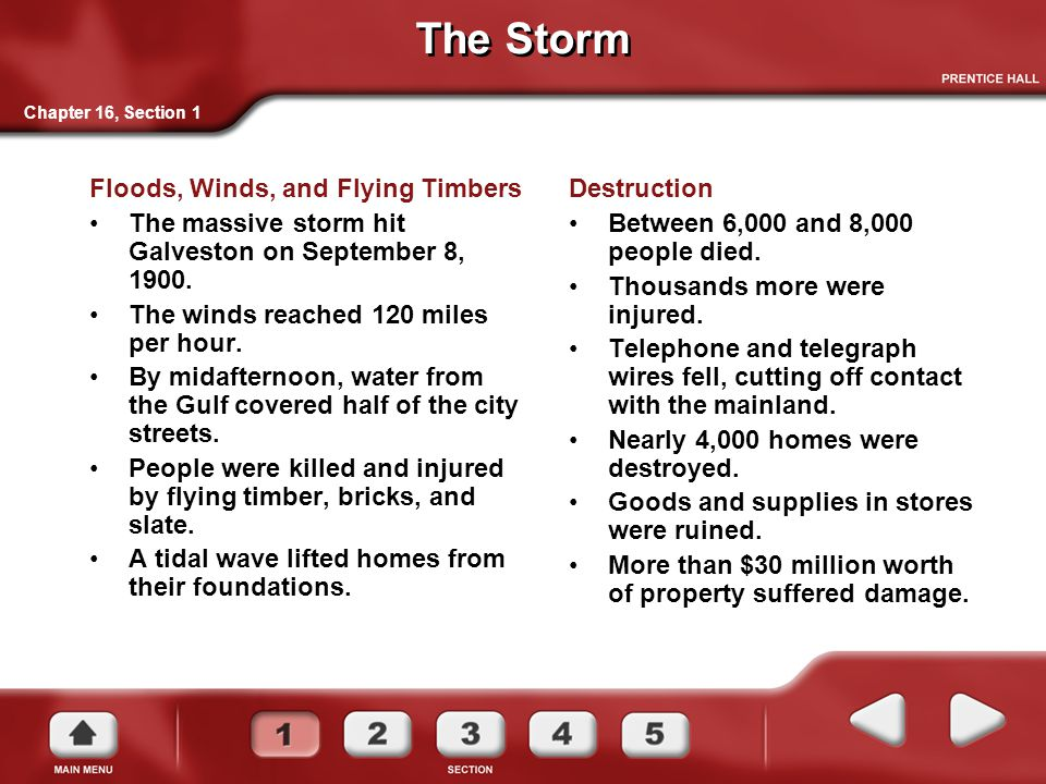 The Storm Floods, Winds, and Flying Timbers