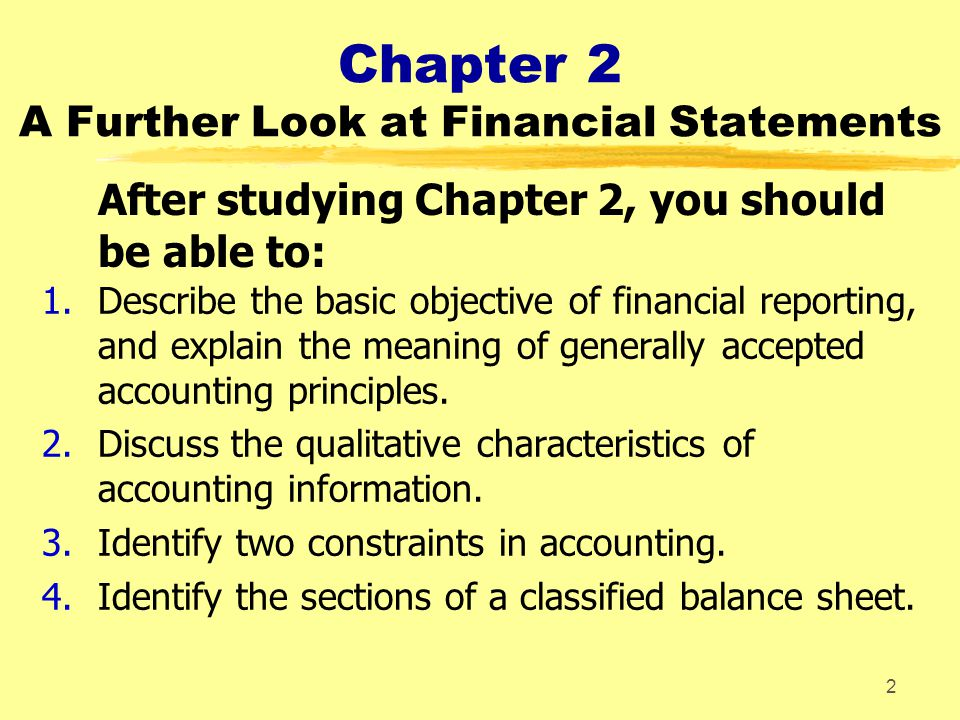 Chapter 2 A Further Look at Financial Statements