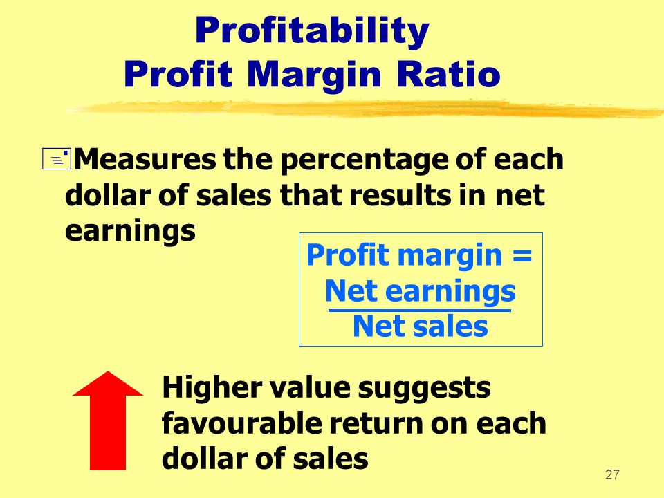 Profitability Profit Margin Ratio