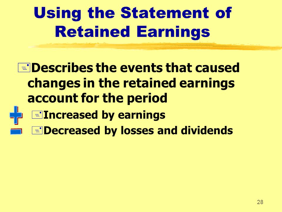 Using the Statement of Retained Earnings