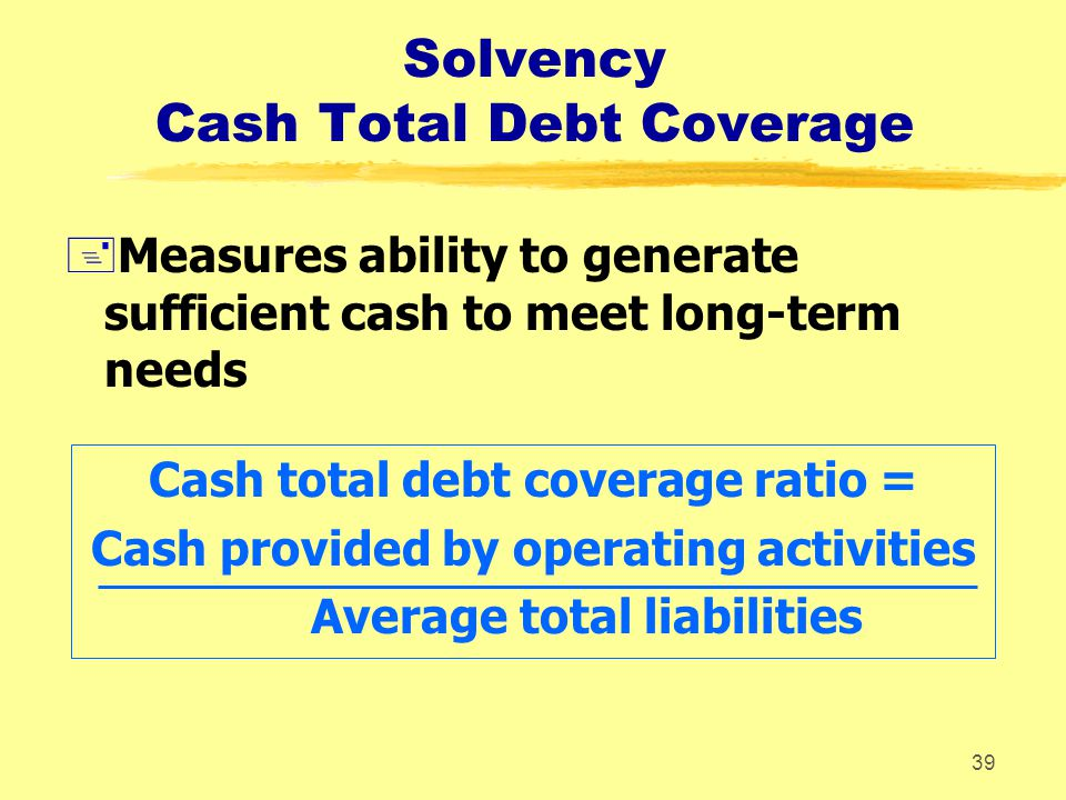 Solvency Cash Total Debt Coverage