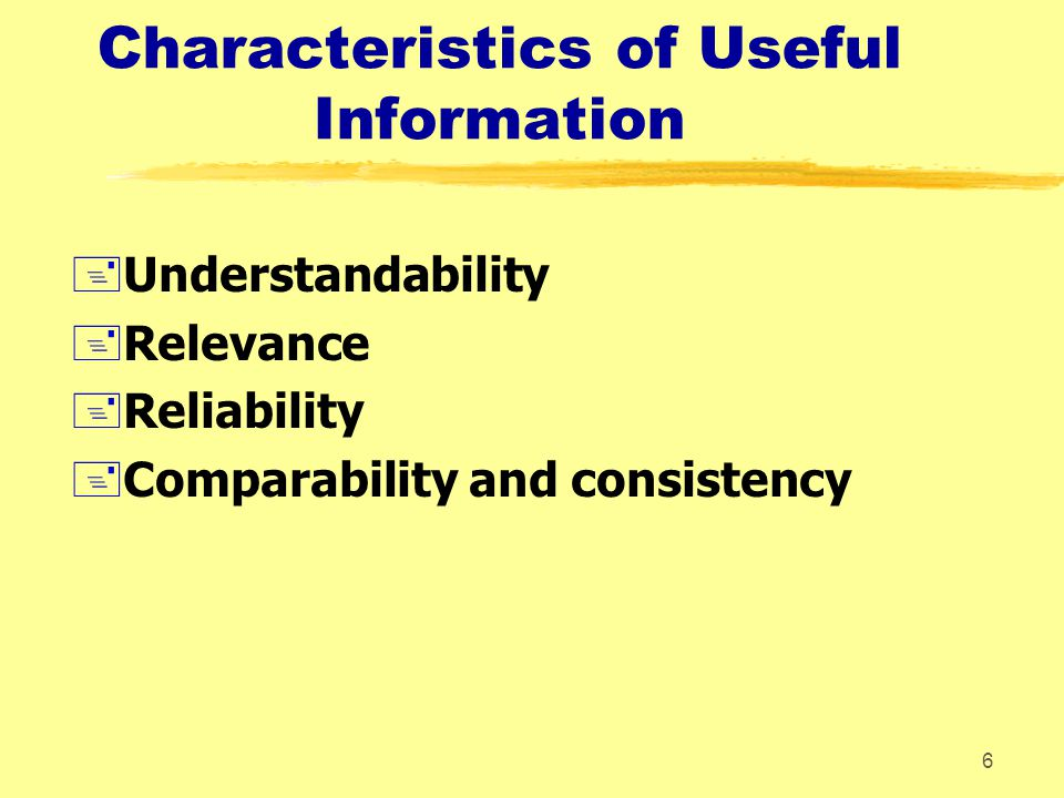 Characteristics of Useful Information