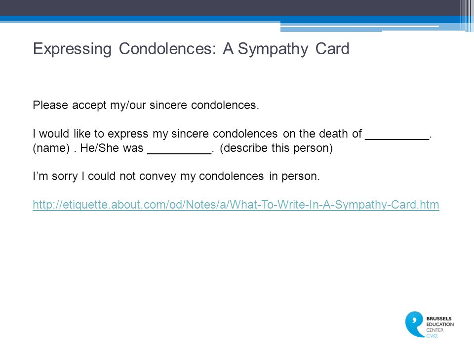 Expressing Condolences: A Sympathy Card