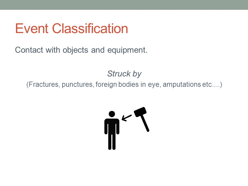 (Fractures, punctures, foreign bodies in eye, amputations etc....)