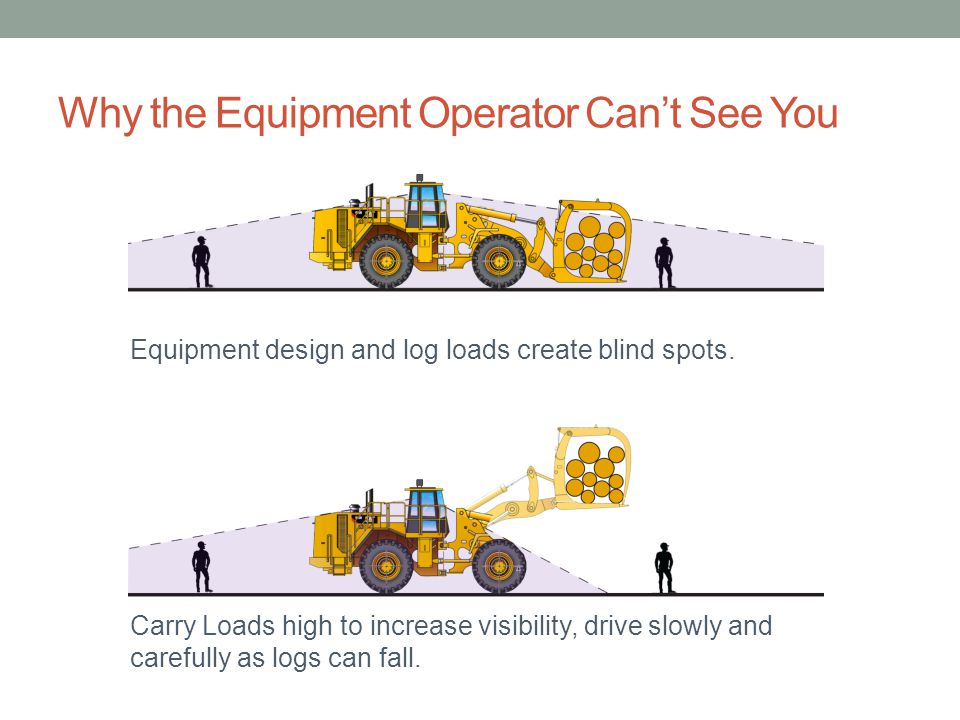 Why the Equipment Operator Can't See You