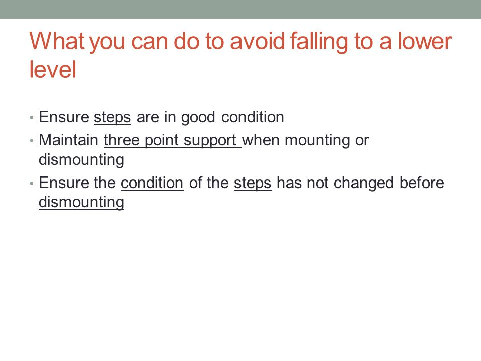 What you can do to avoid falling to a lower level