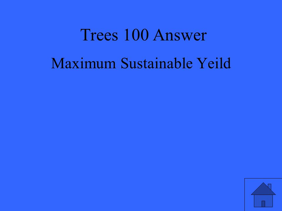 Maximum Sustainable Yeild