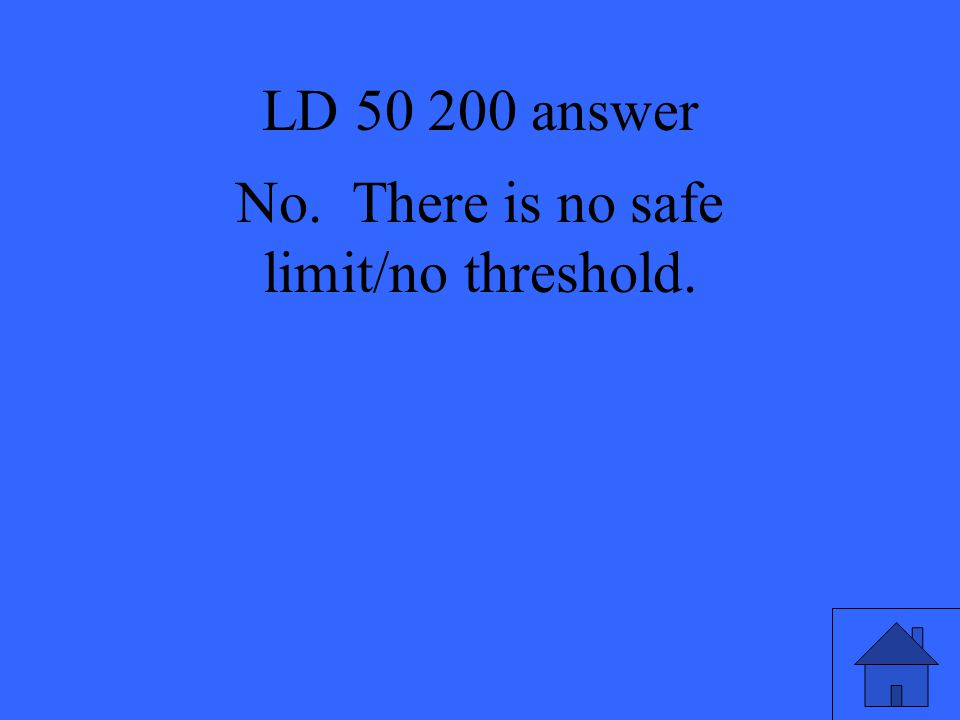 No. There is no safe limit/no threshold.